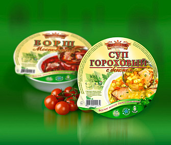 Лотки из CPET 2058 - идеальны для супов, как замороженных так и охлажденных